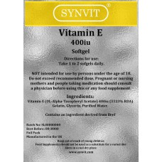 Vitamin E 400 IU Softgels